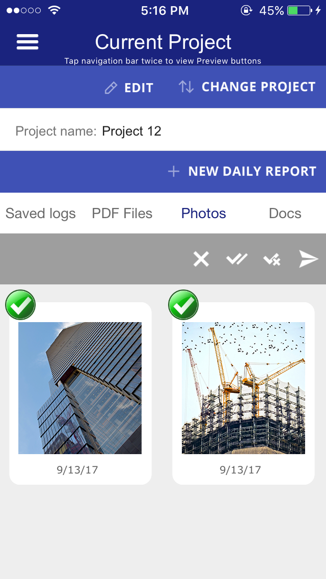 daily construction log