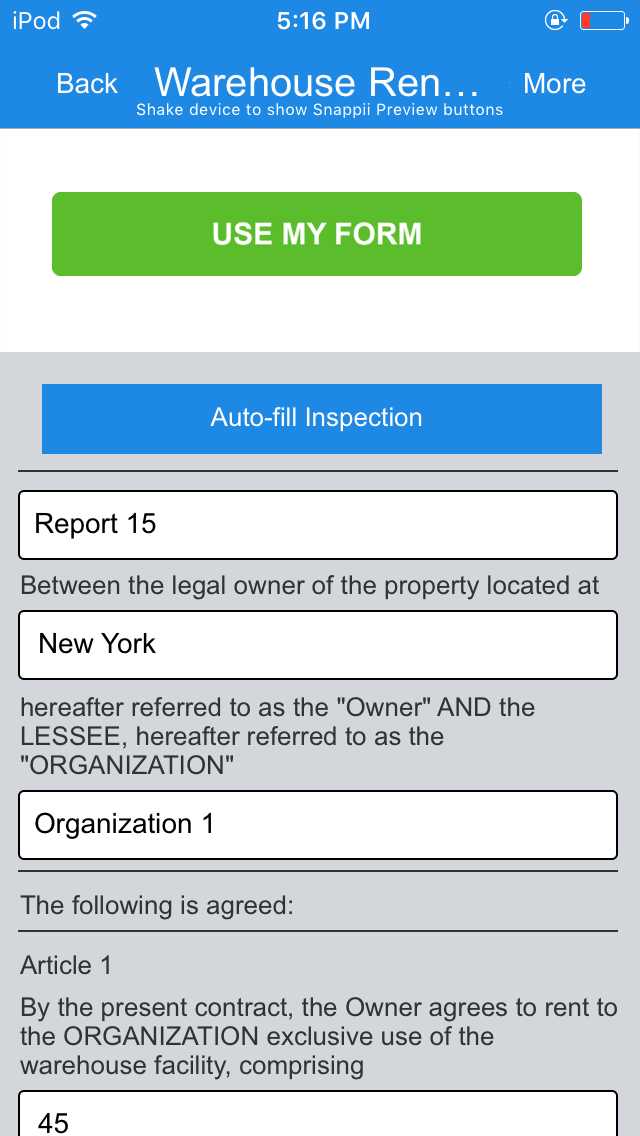 Warehouse Lease and Capacity Calculator App