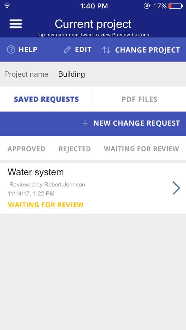 Construction Change Order App