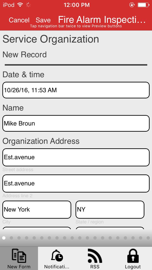 Fire Alarm Inspection Report App