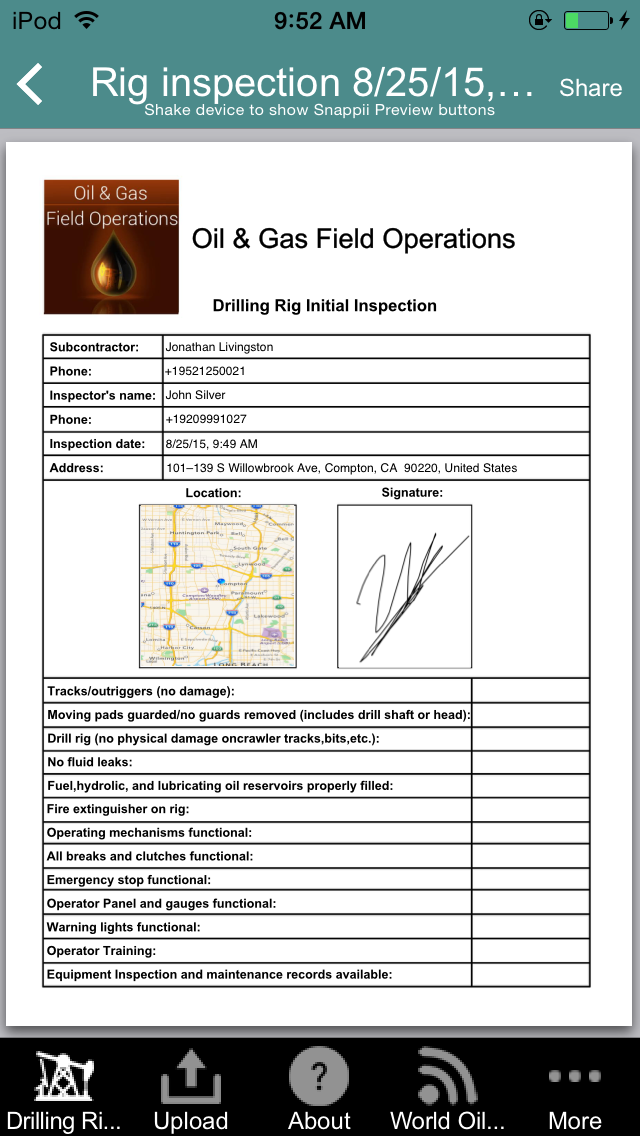 Drilling Rig Inspection App
