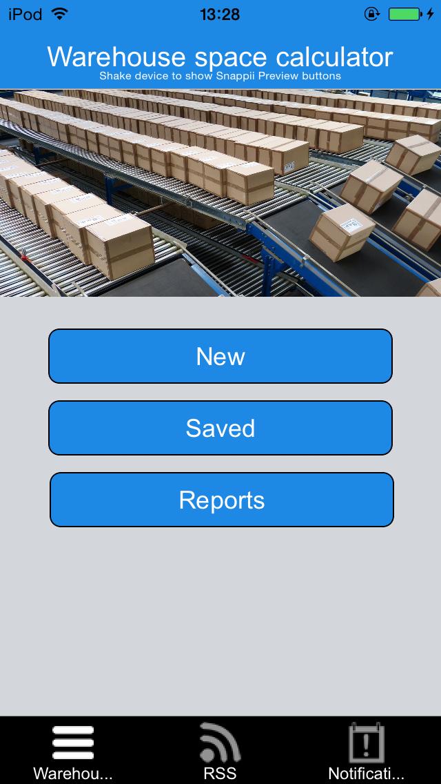 Warehouse Space Calculator App