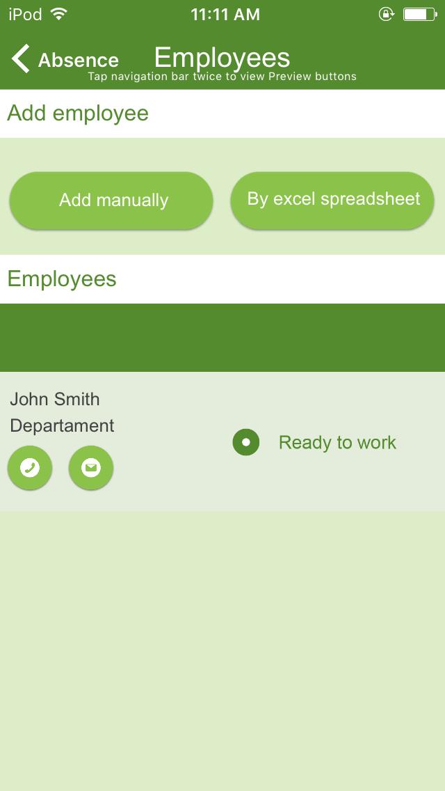 employee absence log